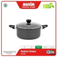 Maxim Priority Teflon 24cm Panci Dutch Oven