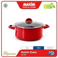 Maxim New Eleganza Panci Teflon 24cm Merah
