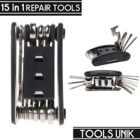 Multifunctional 15 in 1 EDC Repair Tool - HW0668 - Black