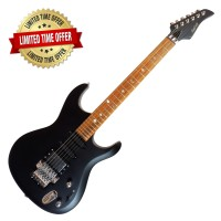 Gitar Elektrik Falcon Roadstar Jet Black Floyd Rose Tremolo EEQ-033