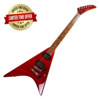 Gitar Electric Falcon King V Crimson Red Electric Guitar EEG-037