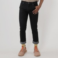 Edwin Celana Jeans Barca Black Slim Fit Stretch
