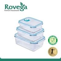 Rovega Kotak Makan Glass Persegi GBS-120 Rovega Vacuum Sealing Glass