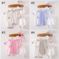 [Paket 8pcs] Perlengkapan Bayi Baru Lahir Baju Newborn Gift Set AQ2271