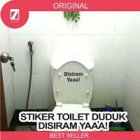 Stiker toilet duduk disiram yaa