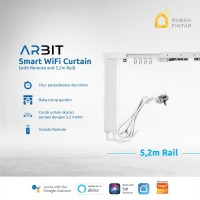ARBIT - Smart Wifi Curtain / Gorden Motor + Remote + Rail 5.2 Meter