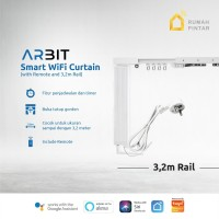 ARBIT - Smart Wifi Curtain / Gorden Motor + Remote + Rail 3.2 Meter