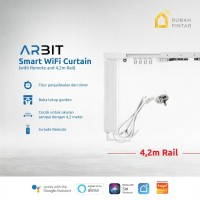 ARBIT - Smart Wifi Curtain / Gorden Motor + Remote + Rail 4.2 Meter
