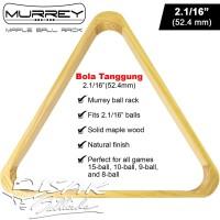 "Murrey Maple Ball Rack 2.1/16"" Bola Tanggung Rak Segitiga Billiard Ori"
