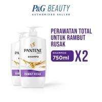 Pantene Shampoo Total Damage Care 750ml - Paket isi 2