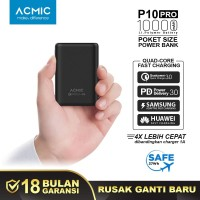 ACMIC P10PRO 10000mAh Mini PowerBank Quick Charge 3.0 + PD