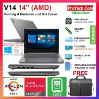 "LAPTOP LENOVO V14-14ADA AMD ATHLON GOLD 3150U 4GB 256GB 14"" DOS RESMI"