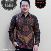 batik solo/Mewah/Elegan/size M L XL XXL-kemeja batik lengan panjang