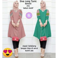 baju tunik murah/atasan muslim wanita/siva long tunik/gl66132