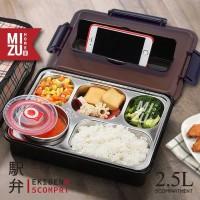 EKIBEN Bento 2.5L Lunch Box Kotak Makan Sup 5 Sekat Tas Bekal Panas
