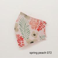 masker kain 3 lapis Seruni Living bunga pastel - spring peach, headloop