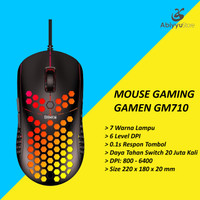 Mouse Gaming Gamen GM710 Optical USB Wired Mouse Komputer PC Laptop