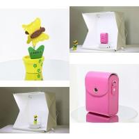 Photo Studio Box Mini 3 Button dengan LED dan 4 PCS Background Size L