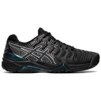 Sepatu Tenis Tennis Asics Gel Resolution 7 Black Silver Original