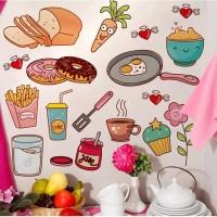 Stiker Dinding / Stiker Kaca / Wall Sticker (Alat Masak dan Makanan)