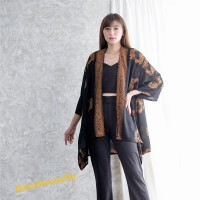 Kimono Outer Batik asymmetric Cardigan batik big jumbo - Koi Sogan