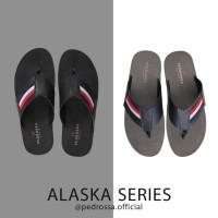 Sandal Sendal Jepit Selop Pria Murah Keren Kasual Ori Pedrossa Alaska - Hitam, 39