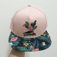 Pink and Green Leaves Hat / Cap Topi Miniso