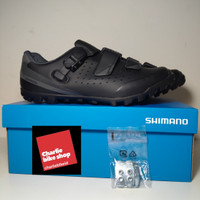 SHIMANO SHOES ME3 SH-ME301 BLACK - SEPATU CLEAT MTB.