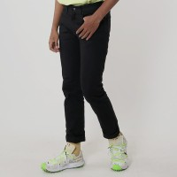Edwin Celana Jeans Milan-018 Regular Fit Pria Panjang Black