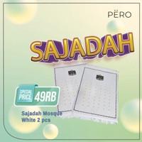 PERO SAJADAH SIMPLE WHITE SET OF 2