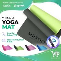 MIISOO Matras Yoga Mat TPE 6mm gym Karpet Spons Yogamat TPE FREE TAS