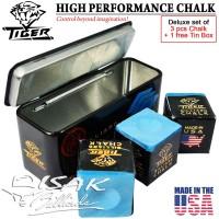 Tiger USA Billiard Chalk - Box 3 pcs - Kapur Biliar Asli Amerika Cuk