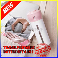 TRAVEL PORTABLE BOTTLE SET 4 IN 1 / TOILETRIES DIVIDER BOTTLE - 100217