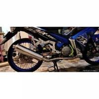 Knalpot standar satria fu / ckd untuk motor jupiter mx, mx new, mx old