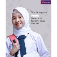 JILBAB SEGIEMPAT Kerudung Anak Sekolah 110 Starla Square Nibras Hijab