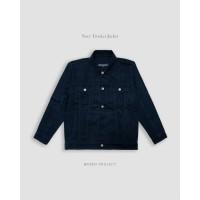 Jaket Jeans Trucker Pria PREMIUM by Bravo Projects - Cream, XL