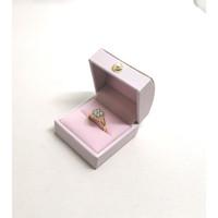 Ring Box / Kotak Cincin Cantik Tersedia Berbagai Warna (Import) - Pink