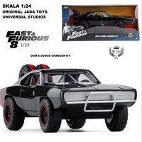 DIECAST MOBIL ORIGINAL FAST FURIOUS 8 DOM'S DODGE CHARGER R/T 1:24
