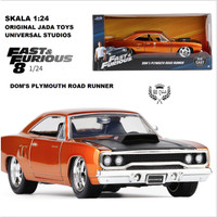 DIECAST MOBIL ORIGINAL FAST FURIOUS 8 DOM'S PLYMOUTH ROAD RUNNER 1:24