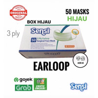 Masker Sensi Earloop isi 50 pcs - Hijau