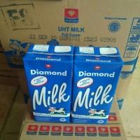 Susu UHT DIamond Full Cream Plain 1 Liter