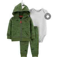 Baby Jumper Set 3 in 1- Jacket Long Sleeve Jumper & Pants (Hello Dino)