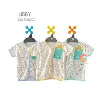 LIBBY 3-Piece Baju Bayi Lengan Pendek Motif Size S,M,L (6-24 Bulan)