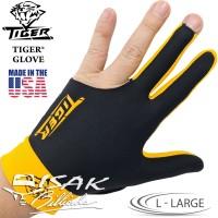 Tiger USA Glove Yellow L - Large Billiard Gloves Sarung Tangan Biliar