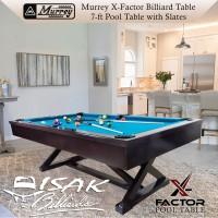 Murrey X-Factor 7 ft Pool Table - Batu Slate Meja Billiard 7 feet Asli