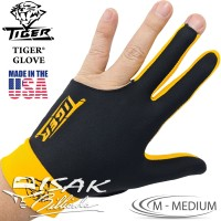 Tiger USA Glove Yellow M - Medium Billiard Gloves Sarung Tangan Biliar
