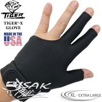 Tiger USA X-Glove Black XL - Extra Large Billiard Gloves Sarung Tangan