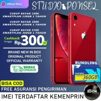 iPhone XR 256GB 128GB 64GB Garansi Resmi TAM IBOX - Black White Red