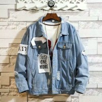 JAKET JEANS DENIM IMPORT PRIA KOREA ORIGINAL M-XXXL/3XL TF130