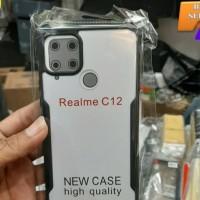 soft case hybrid armor realme c12 soft bumper hard case cover case